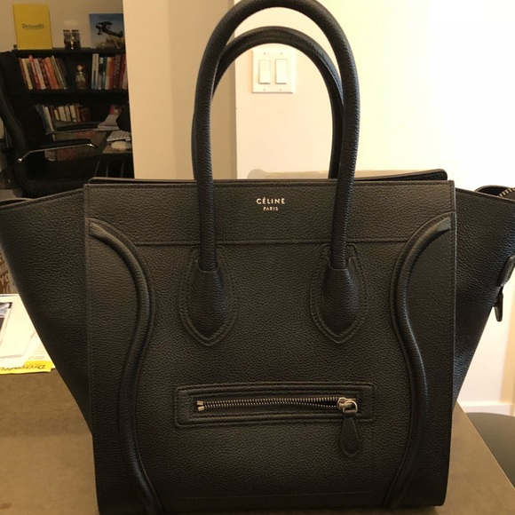 Celine Handbags - Celine Mini luggage black w receipt dac627e506b06